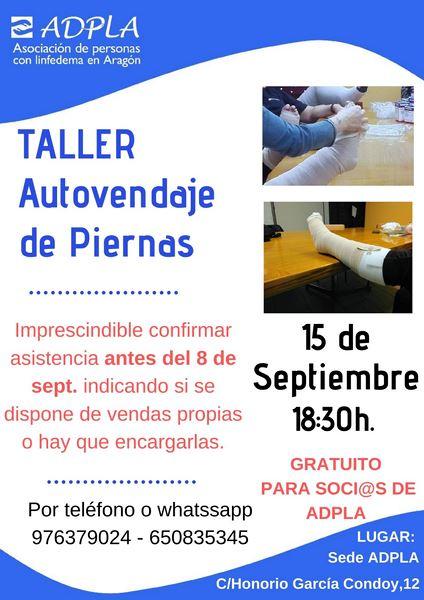 TALLER AUTOVENDAJE DE PIERNAS