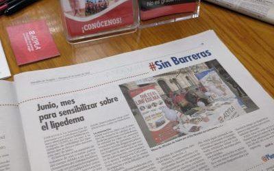 Mes del LIPEDEMA en Heraldo de Aragón
